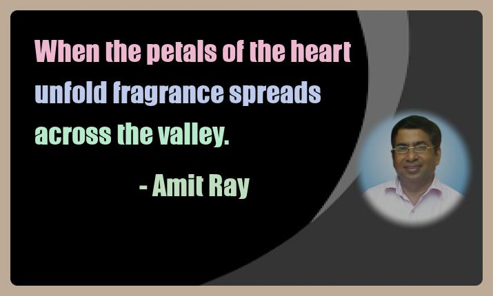 Amit Ray Meditation Quotes - When the petals of the heart unfold