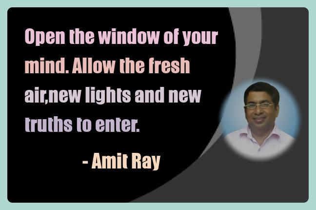 Amit Ray Meditation Quotes - Open the window of your mind. Allow