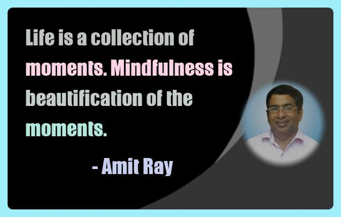 Amit Ray Meditation Quotes - Life is a collection of moments.