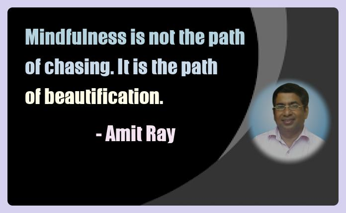Amit Ray Meditation Quotes - Mindfulness is not the path of