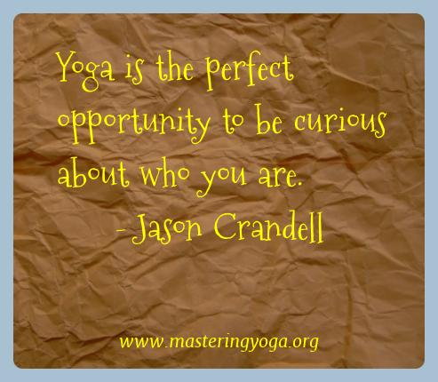 Jason Crandell Yoga Quotes  - Yoga is the perfect opportunity to be curious about who you