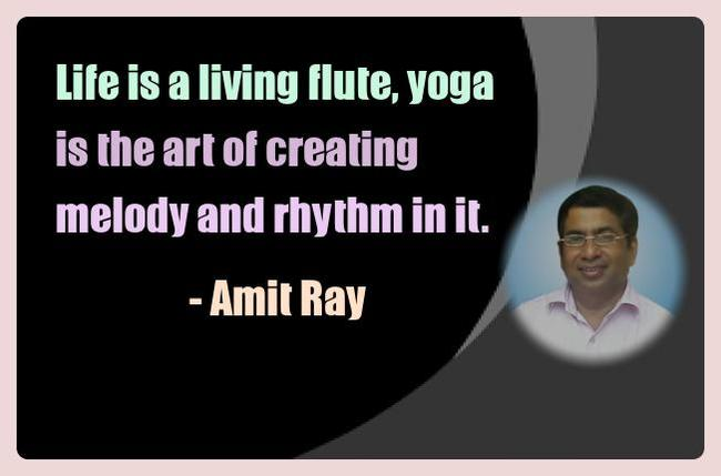 Amit Ray Yoga Quotes - Life is a living flute, yoga is the